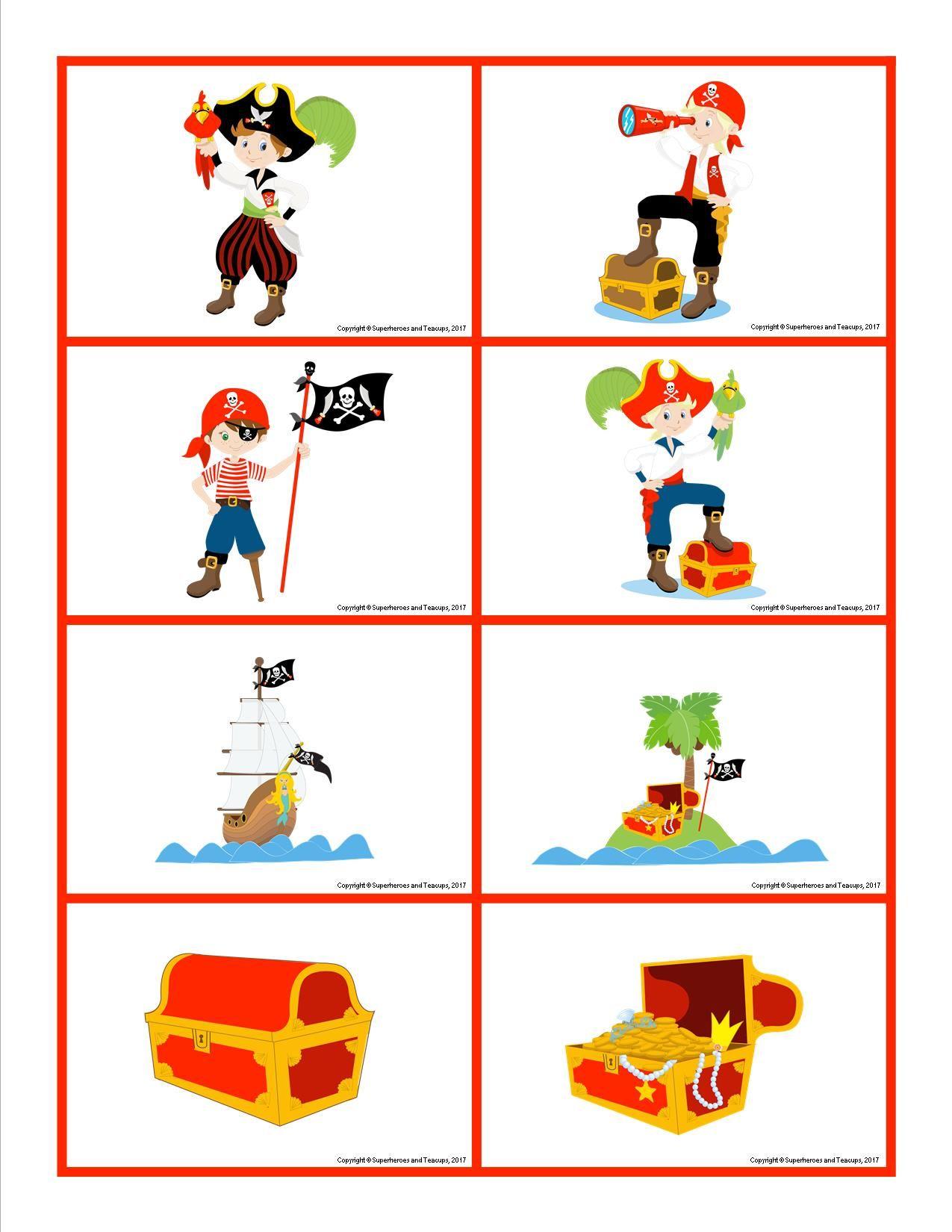 Pirate Memory Game Free Printable