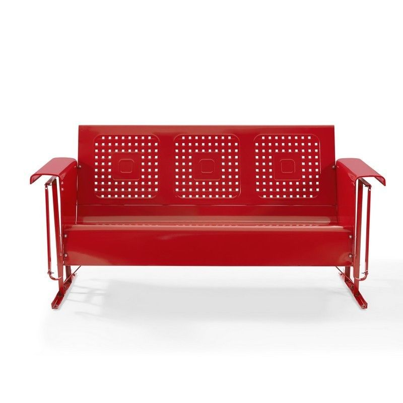 Crosley Bates Sofa Glider Red Co1016 Re Bates Sofa