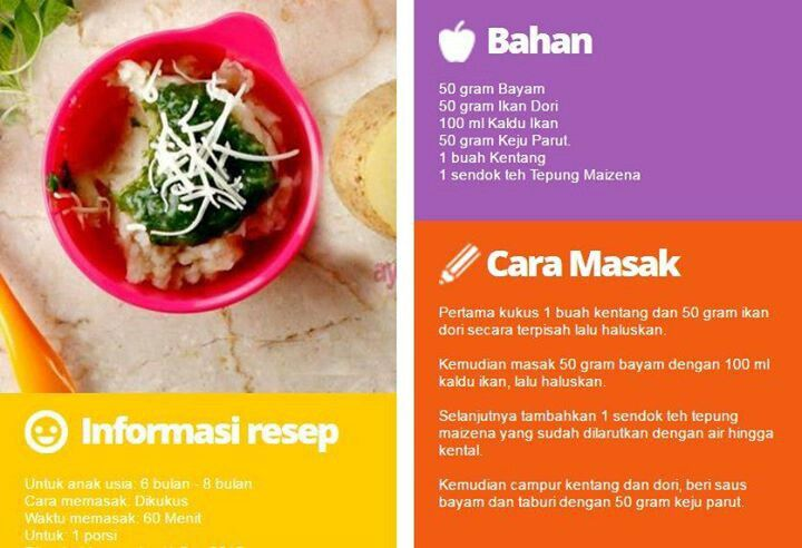 Makanan Baui 6bln Resep Makanan Bayi Makanan Bayi Resep Makanan