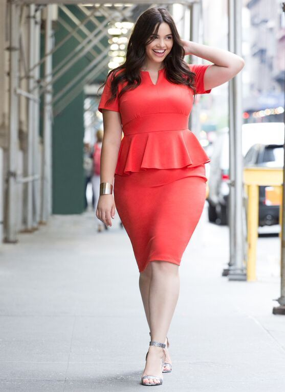 Look Charming In Plus Size Red Dresses Peplum Dresses Curvy And