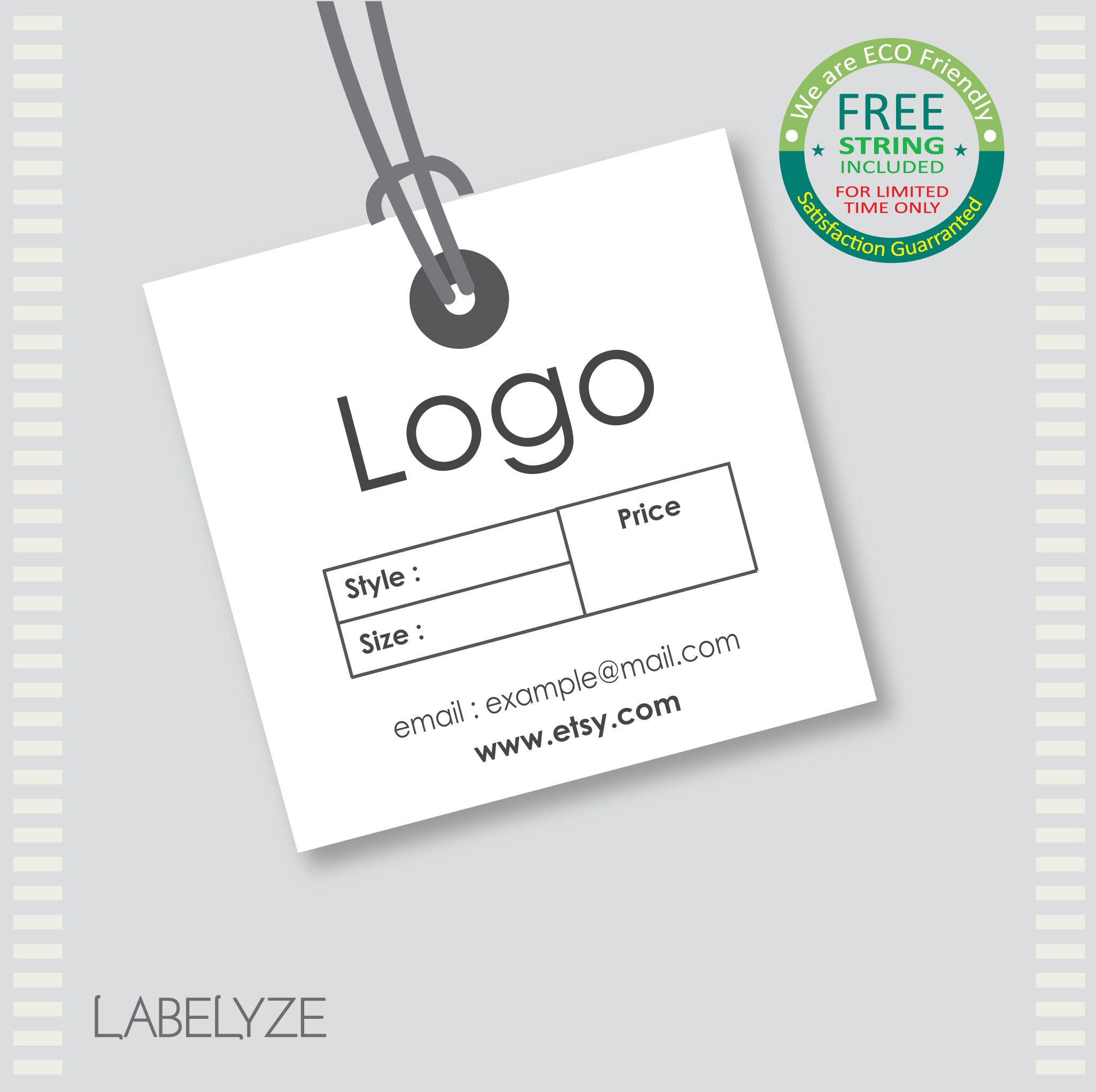 4b616549c4e58 Custom Hang Tags with String,Thank You Tag, Product thank you ...