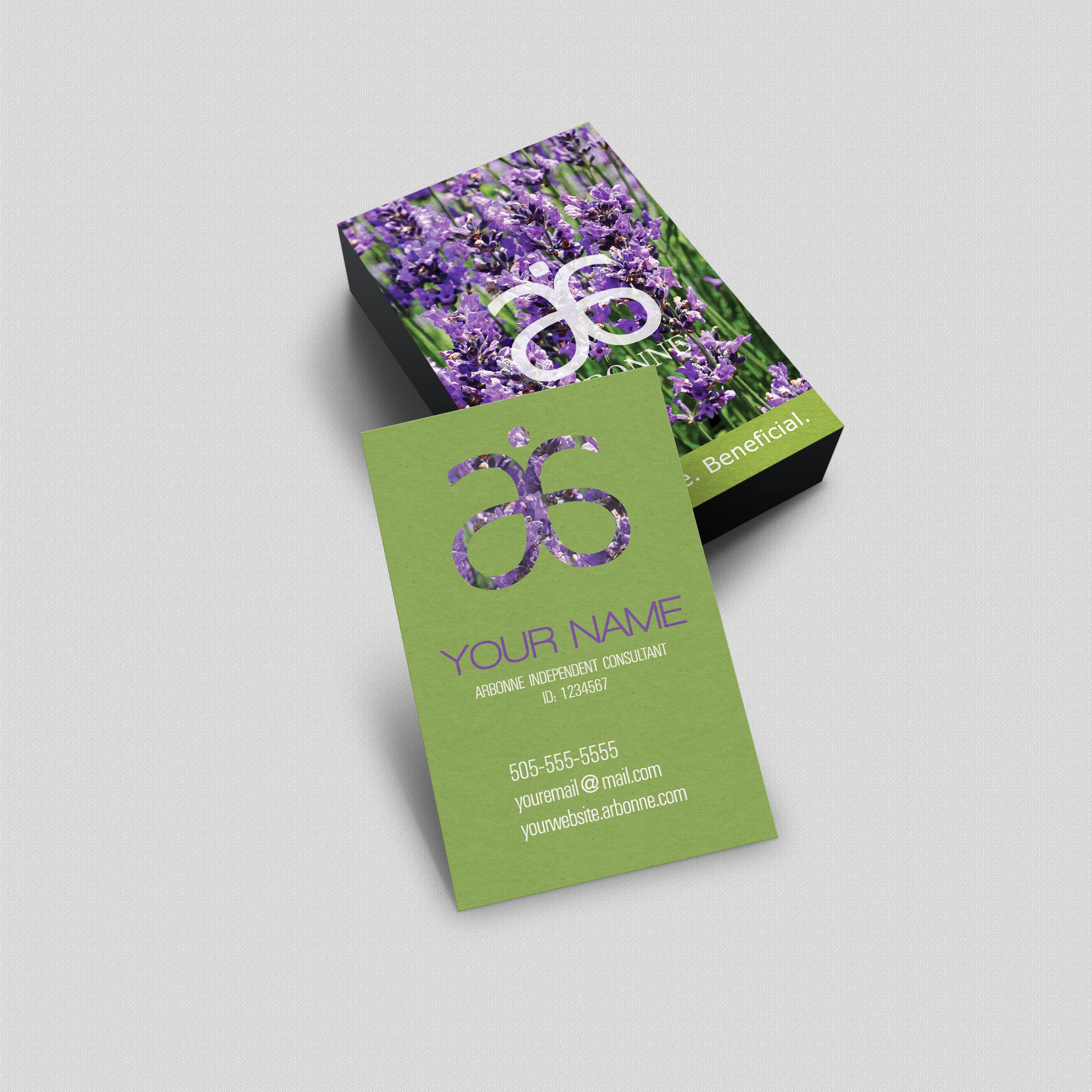 Arbonne Business Card - Lavander | Arbonne | Pinterest | Arbonne ...