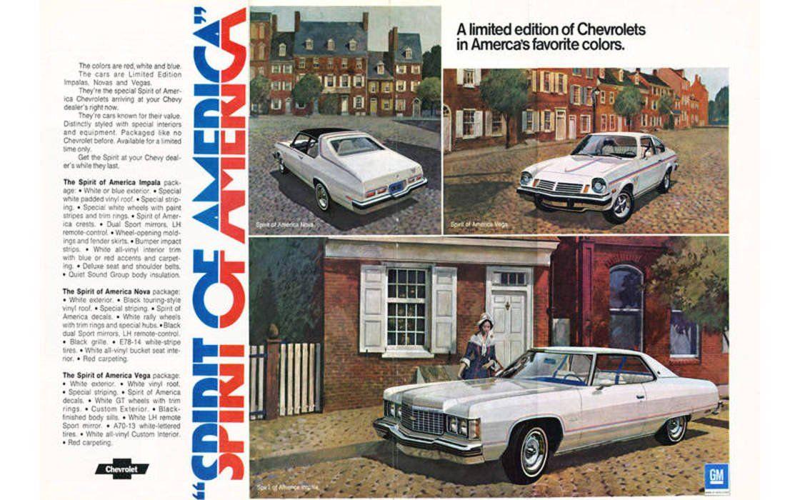 1974 Chevy Spirit Of America Ad Chevrolet Chevrolet Impala Car Ads