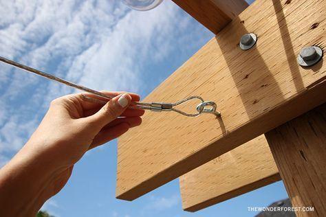 Diy Retractable Pergola Canopy Tutorial Retractable