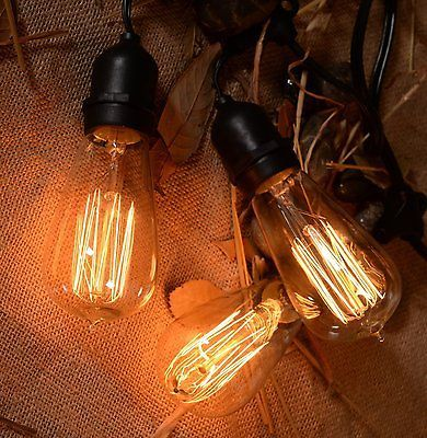 Outdoor vintage string lights edison bulbs patio lights w retro outdoor vintage string lights edison bulbs patio lights w retro weatherproof aloadofball Images