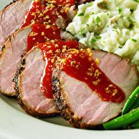 Outback Steakhouse Roasted Pork Tenderloin with Sweet Tangy Glaze by Tom