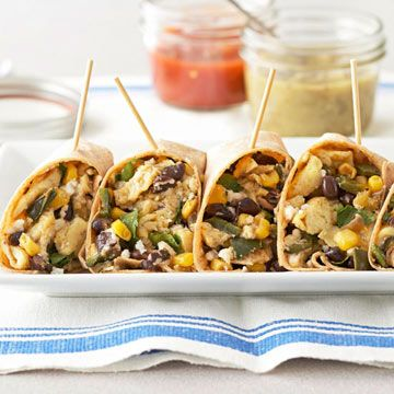 Black Bean and Corn Breakfast Burritos