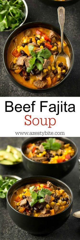 Beef Fajita Soup - A Zesty Bite