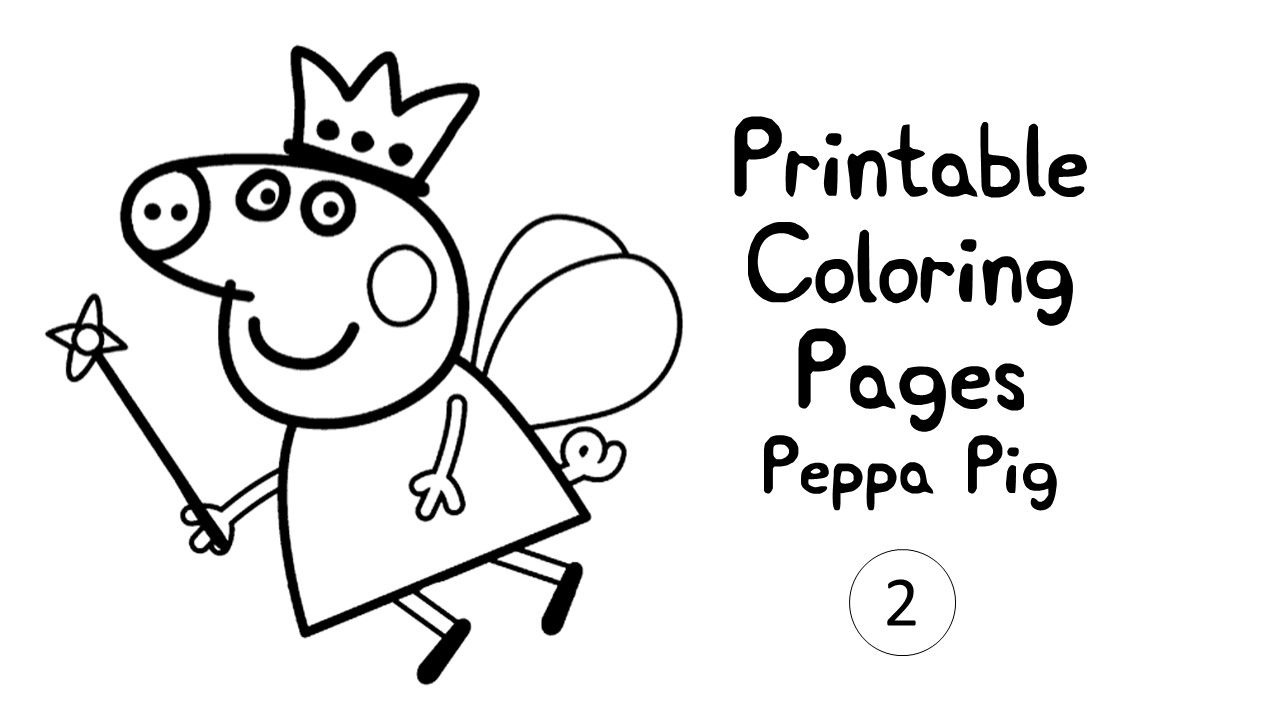 Download Coloring Pages Peppa Pig Print Colouring Kids Printable