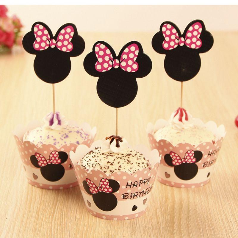 Mickey Minnie Revêtements de Gâteau pour les Filles Fête D ...