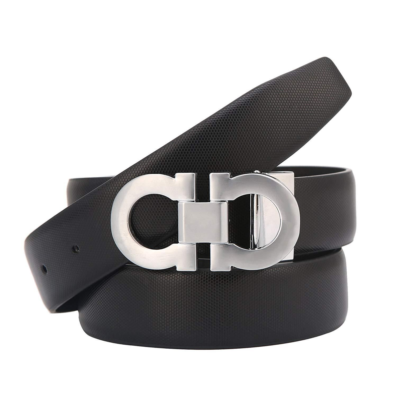 Men/'s Belts Fashion Comfort Leather Dress Belt Adjustable Buckle by Trim to Fit
