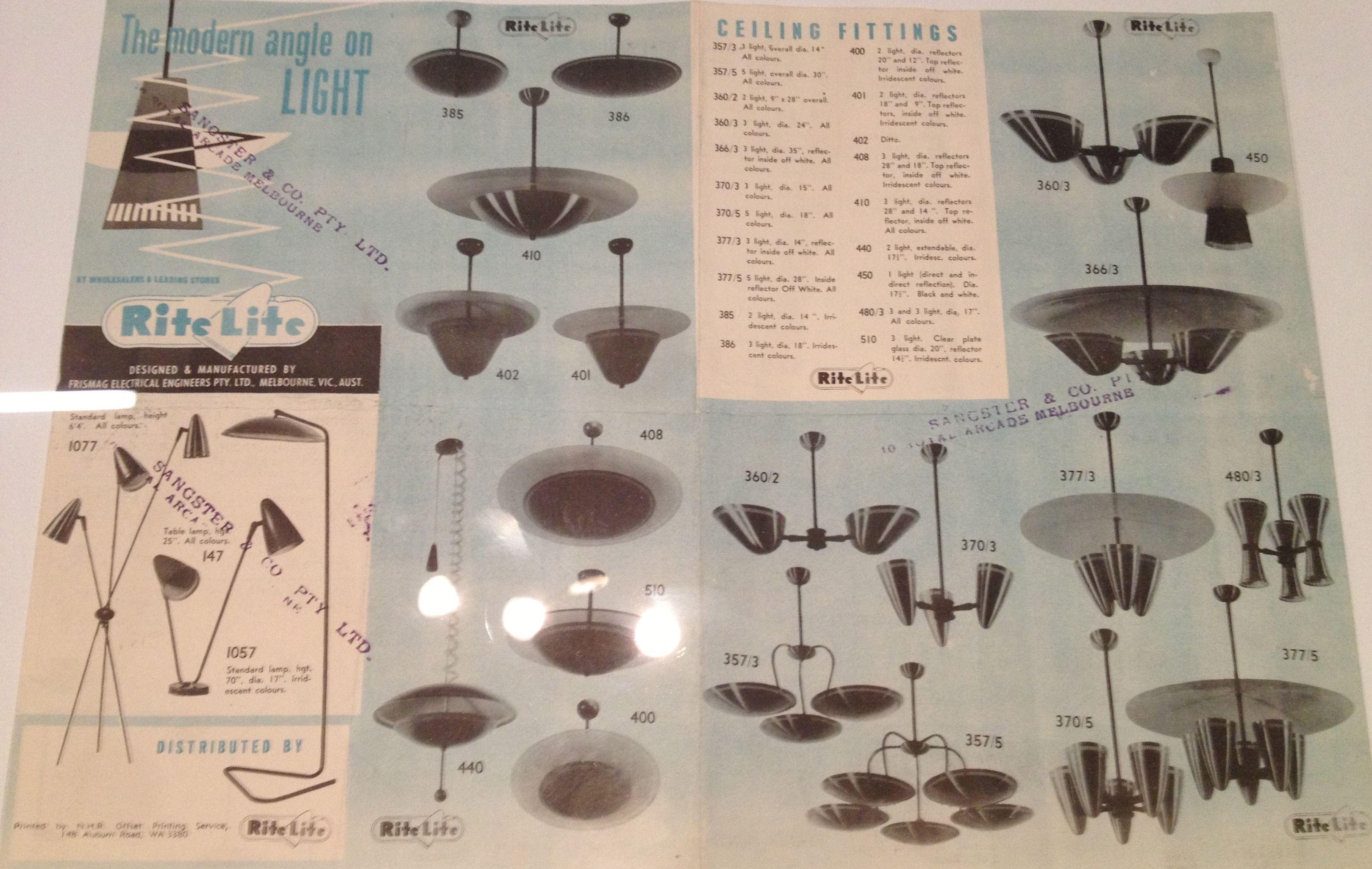 Mid Century Rite Lite Lighting Ad