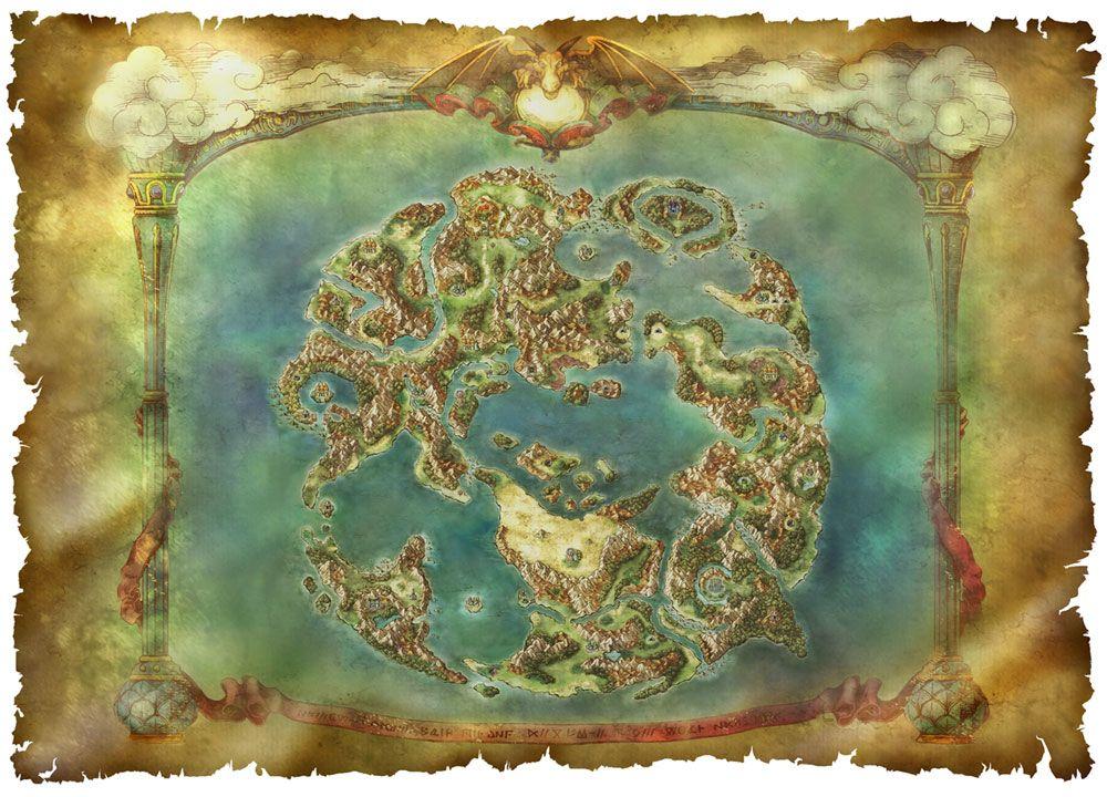 World Map ドラクエ Pinterest Dragon Quest Dragons And