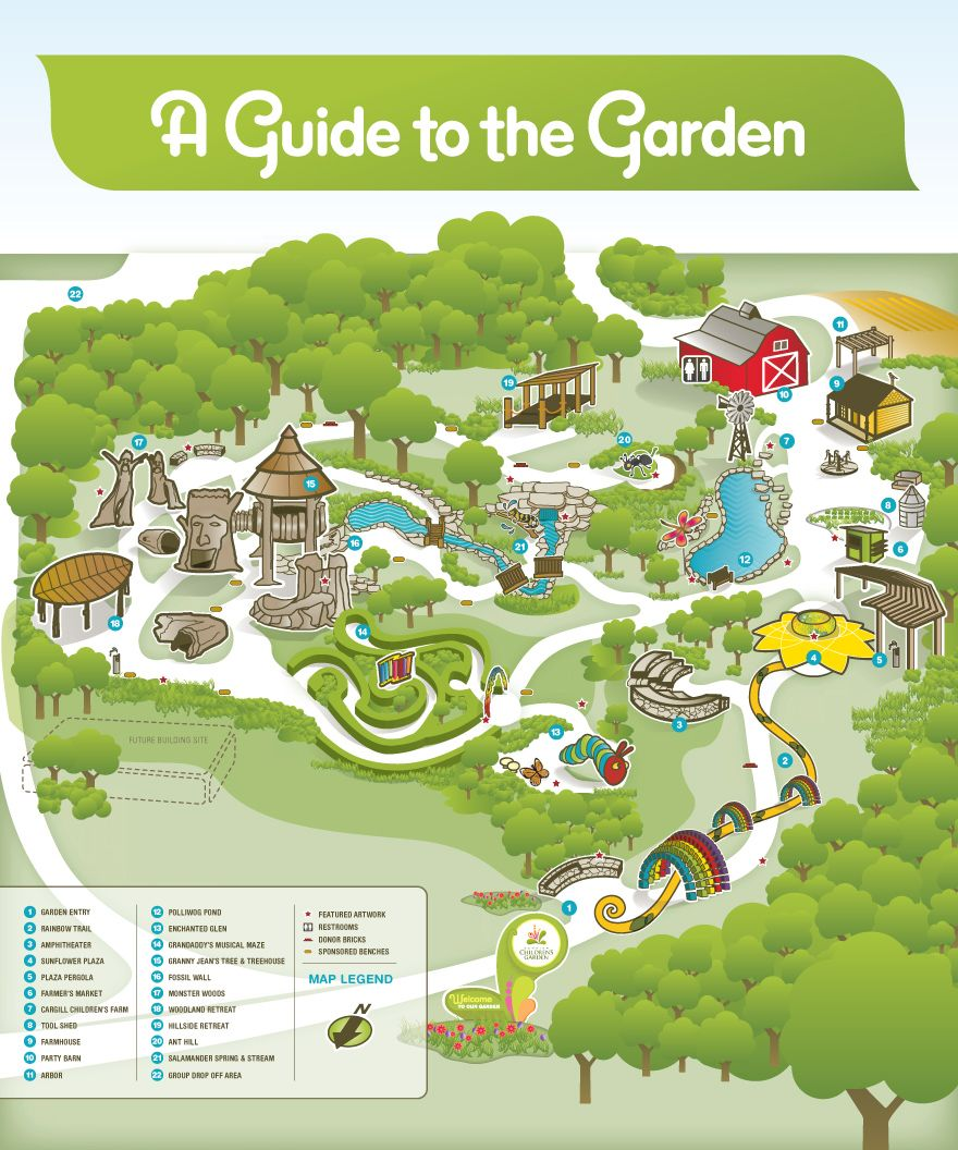 Outdoor Wedding Wichita Ks: Downing Children's Garden Map At Botanica...so Taking Some