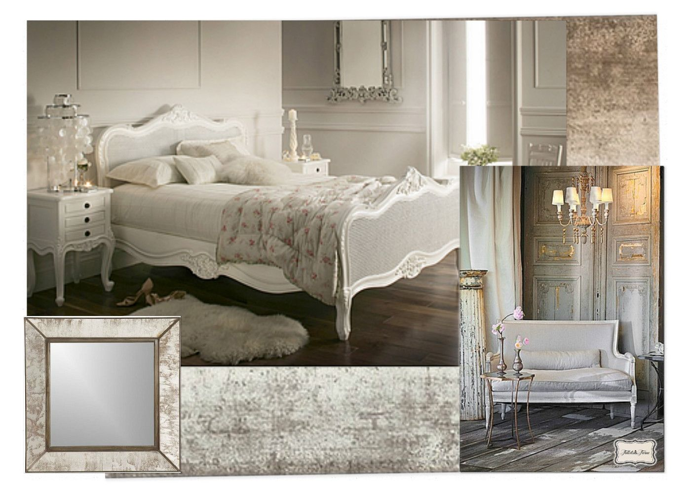 Romantic French Bedrooms Naturally Neutral White