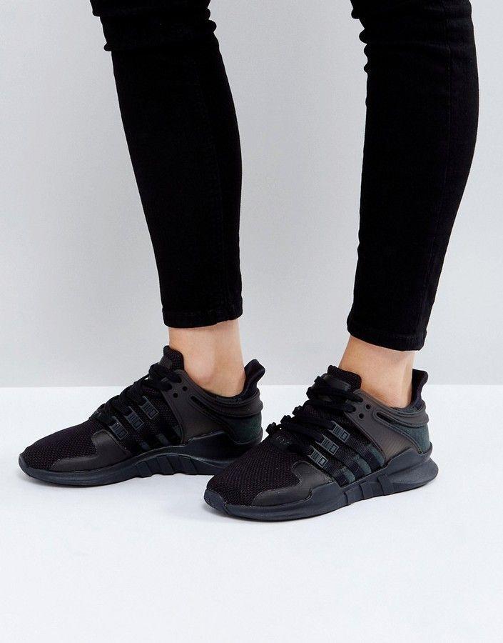 new style b924f ff2dc ... sale adidas eqt support adv sneaker in black 7e5e7 3c75f