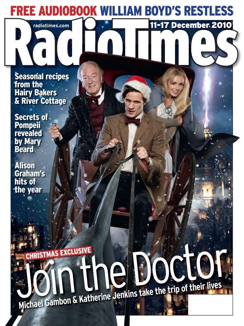 Matt Smith on cover of Radio Times | Doctor who christmas, Doctor who tv, Christmas carol