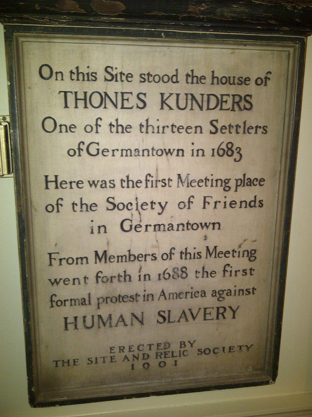 1688 Protest against slavery | Anthony Benezet Symposium | Germantown Historical Society.http://t.co/9HVF6RXtuz