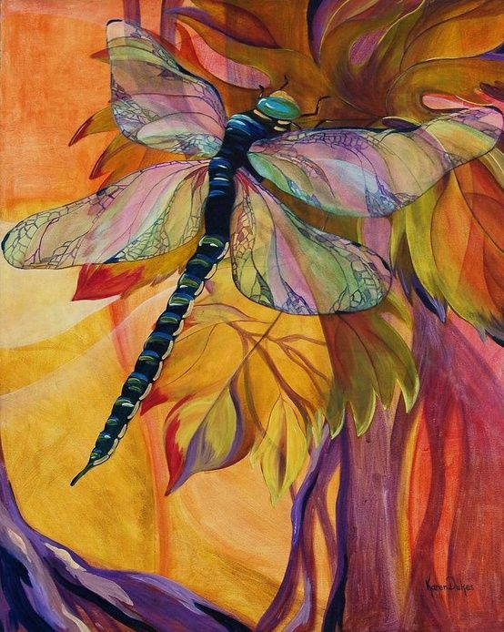 Amazing Dragonfly Art Fantasy Paintings Art