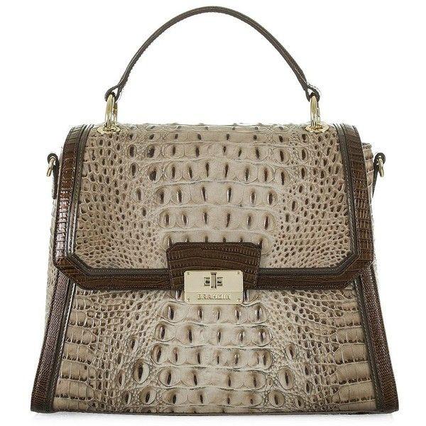 Brahmin Snake Skin Embossed Shoulder Bag 385 Liked On Polyvore Featuring Bags Handbags Barley Brown Purse