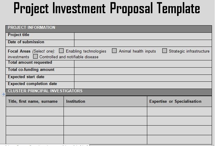 Use A Business Investment Proposal Template From Doczer Who Use