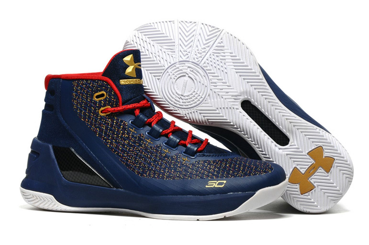 Golden State Warriors Stephen Curry 3 Royal Blue Basketball Shoes on  www.offwhiteonline.com 4b77117f065