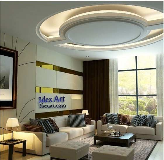 Modern Interior Decoration Living Rooms Ceiling Designs Ideas: Latest False Ceiling Designs For Living Room And Hall 2018