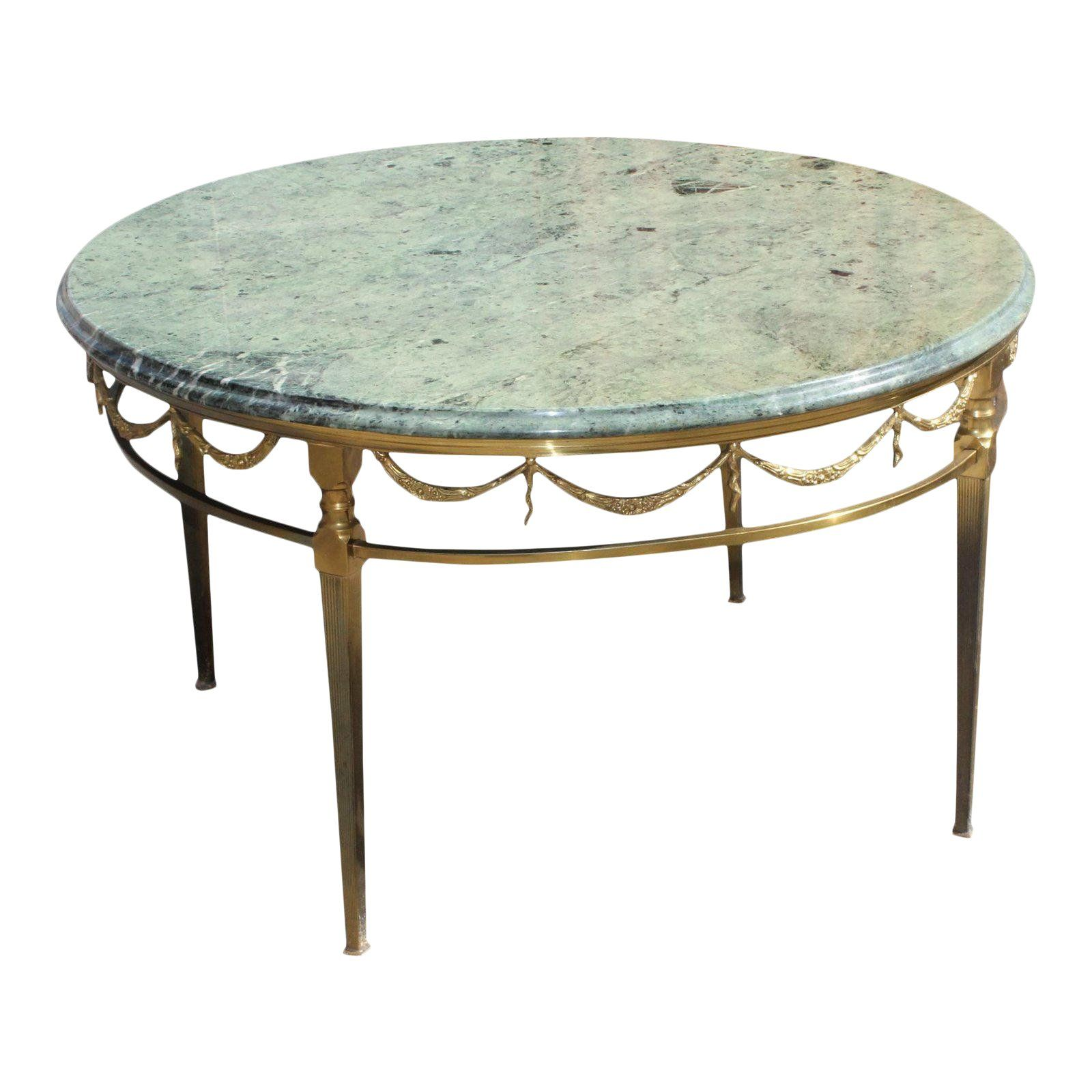 1940s Art Deco Maison Jansen Bronze With Round Marble Top Coffee Table For Sale Bronze Coffee Table Coffee Table Vintage Coffee Table