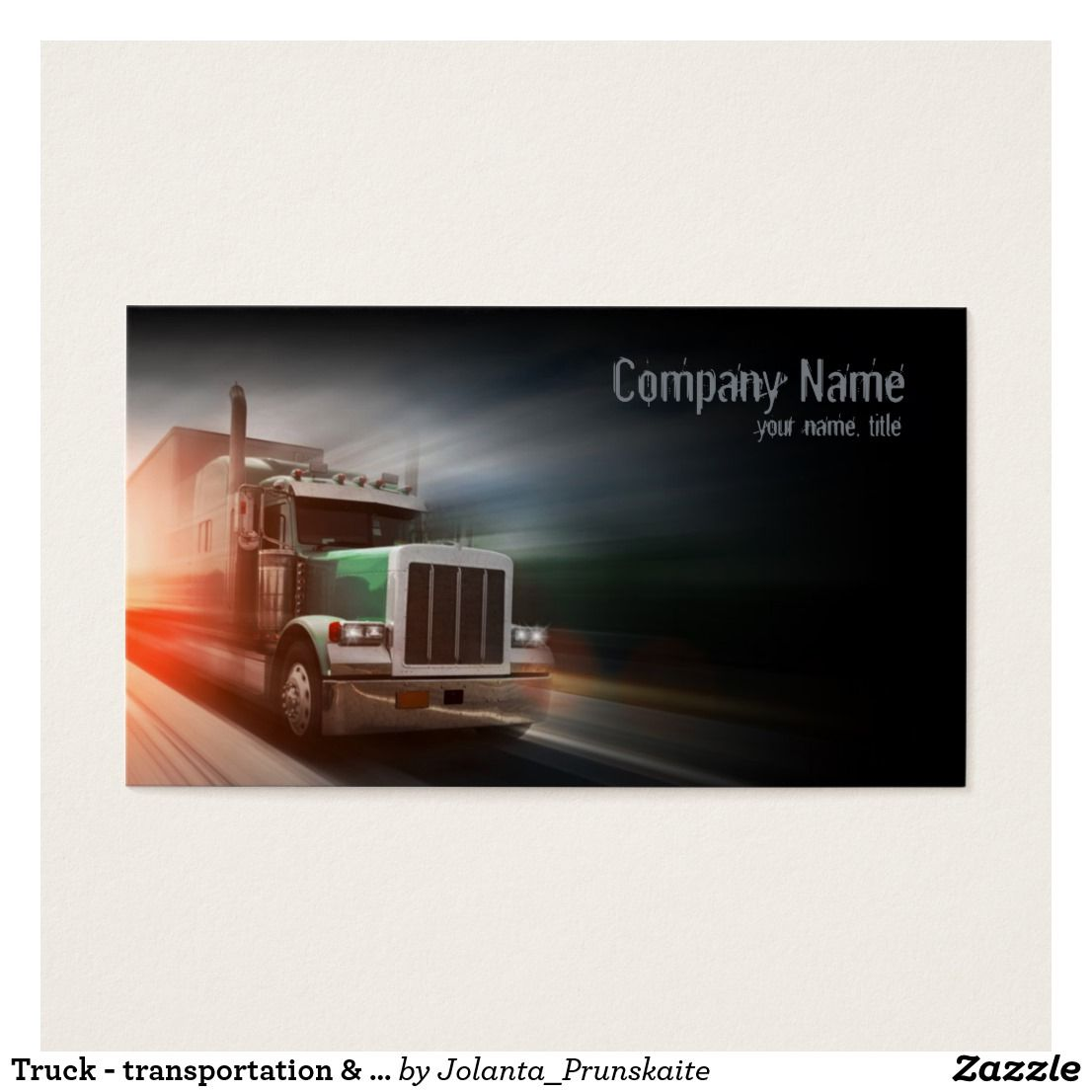Truck - transportation & logistics business card | Business cards ...