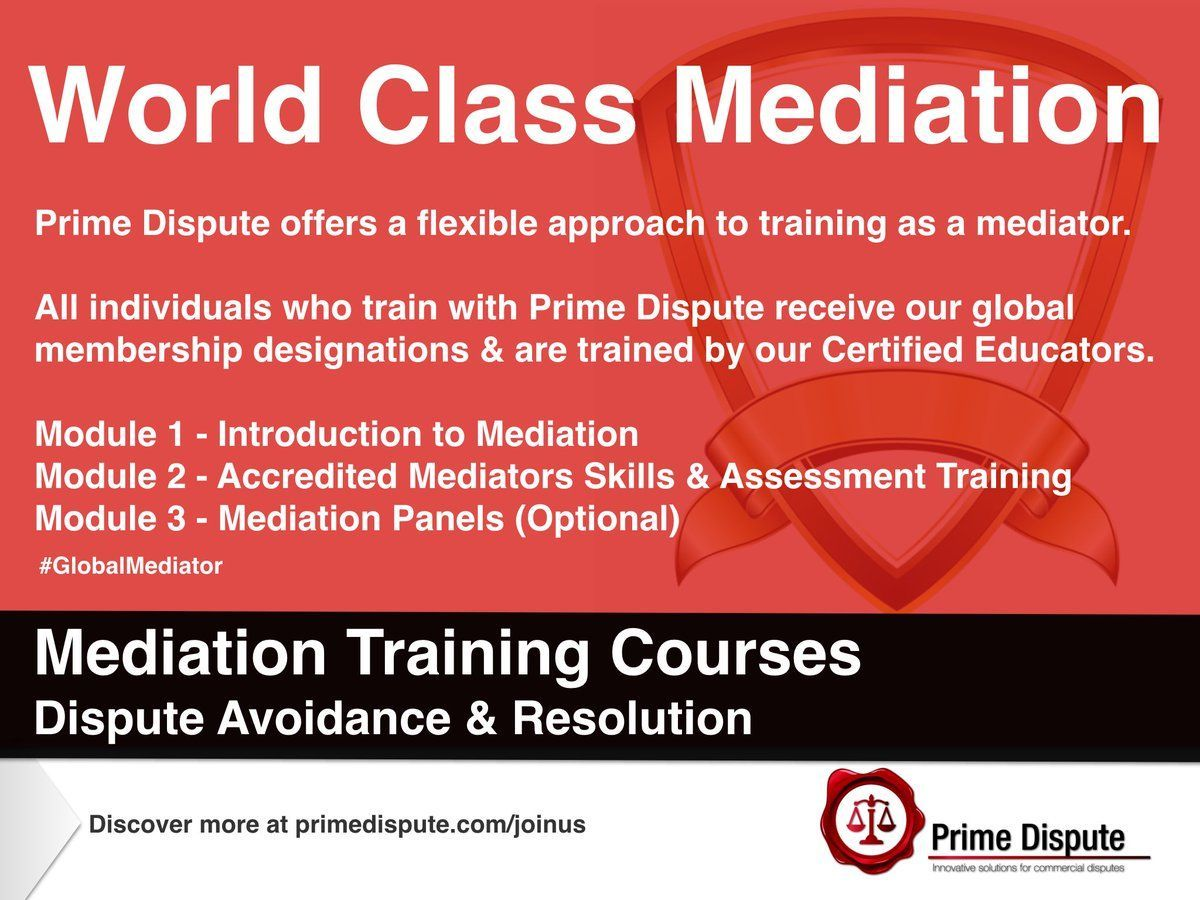 Mediation Courses What is Prime Dispute Mediation