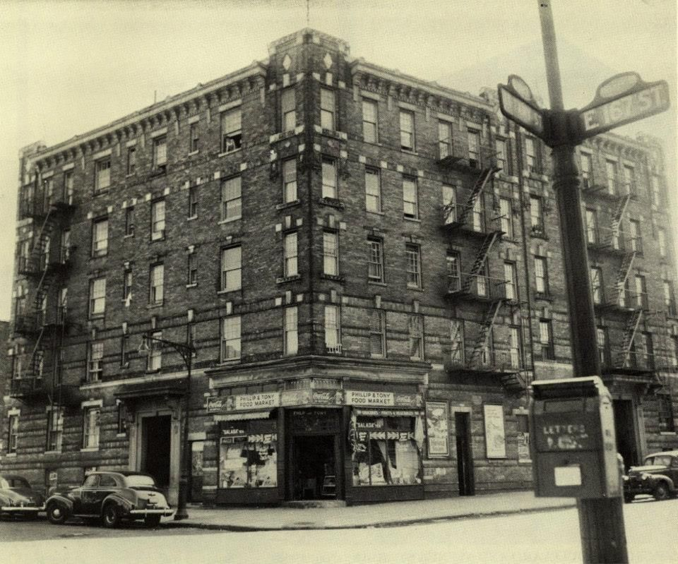 E167th Street Bronx Ny 1940s Old Time Beauty