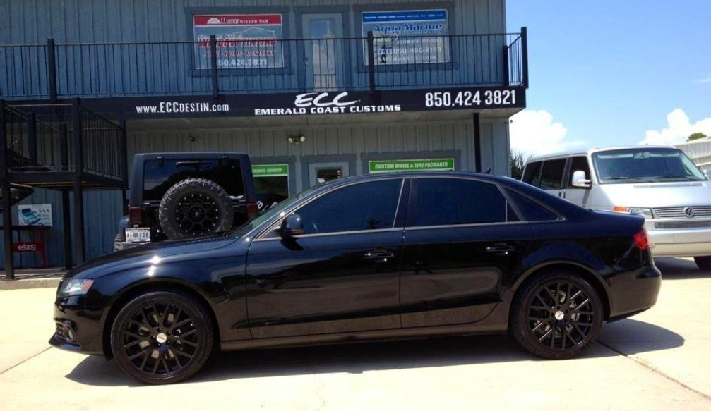 Black Audi A4 Quatro W 19 Tsw Donnington Wheels Hankook Tires
