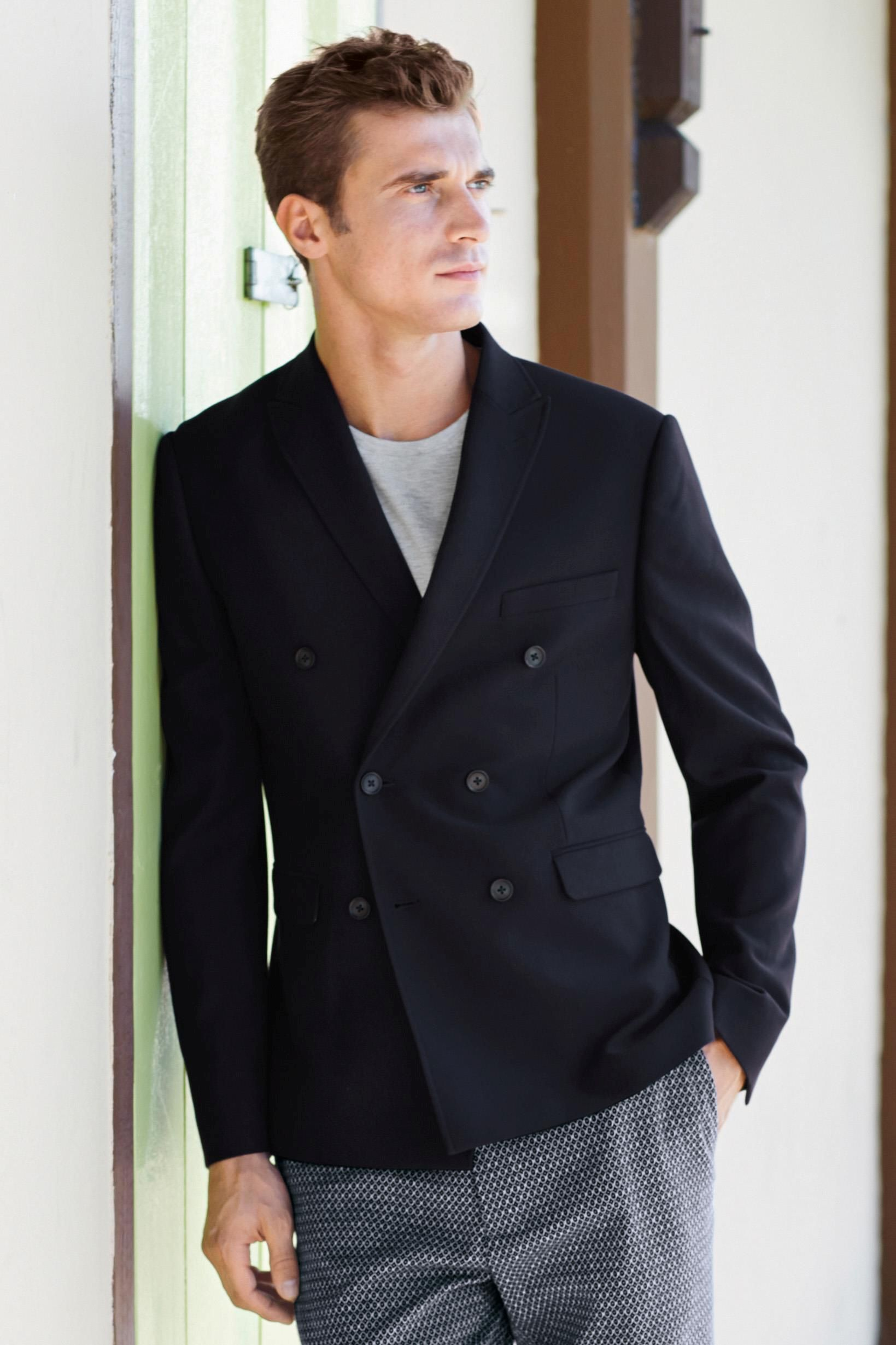 navy double breasted blazer lookbook men - Google Search | Daily ...
