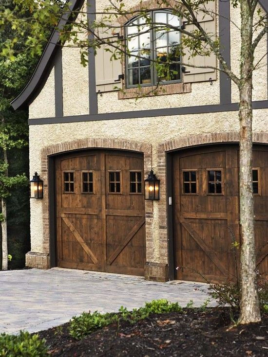 Brown Garage Doors With Windows french country garage doors design, pictures, remodel, decor and