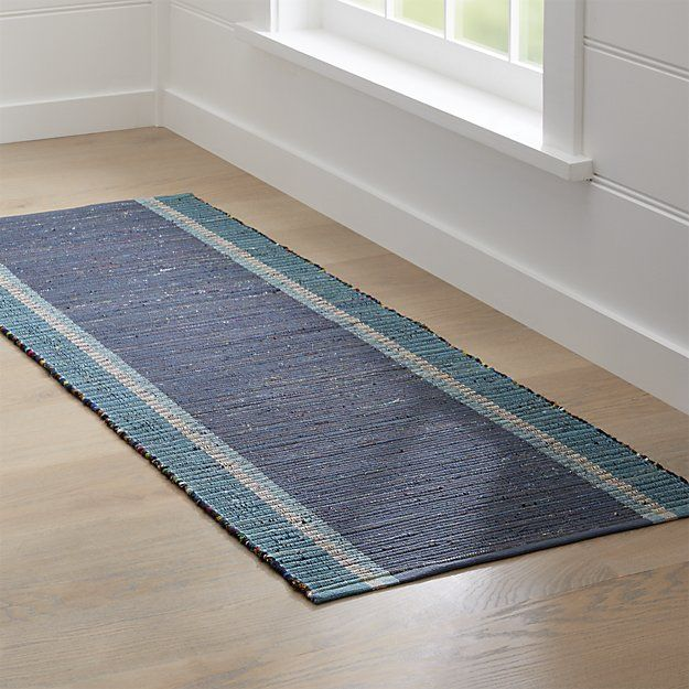 Quentin Denim Blue Rug Runner Crate And Barrel Rving