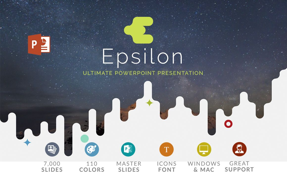 Epsilon powerpoint template template and presentation templates epsilon powerpoint template by zacomic studios on creativemarket presentation toneelgroepblik Choice Image