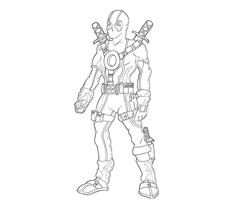 deadpol coloring pages Printable Deadpool Marvel Coloring Pages 4 - copy coloring pages games superhero