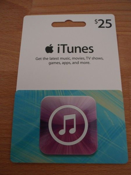 iTunes 25 dollar gift card. GIN* 28500 lower then the rest.
