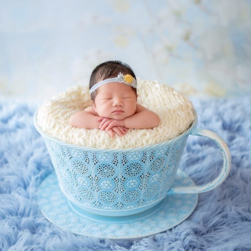48.96$  Watch now - http://ali3ye.worldwells.pw/go.php?t=32751781074 - 2016 Newborn Portraits Posing Shoot Stool Tea Cup Photo Props,Boutique Newborn Fotografia Bowl Brand Baby Seats,Baby Shower Gift