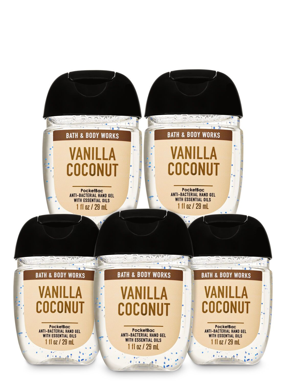Bath Body Works Vanilla Coconut Pocketbac Hand Sanitizers 5
