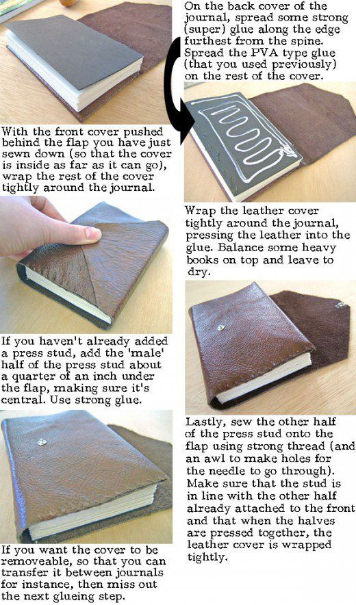 How To Make Your Book Cover Look Professional : How to make a leather journal book binding tutorial