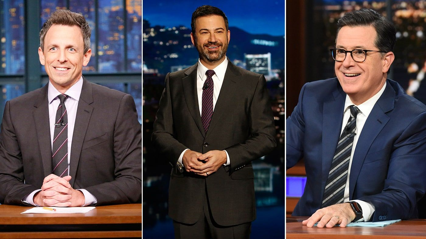 The Year In Tv How Late Night Hosts Became The Resistance Late Nights Tvs Film Music Books