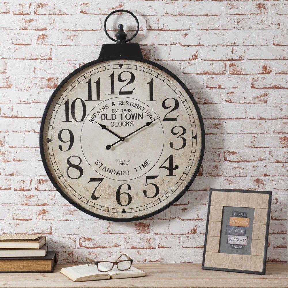 Horloge Gousset En Métal D 60 Cm Horloge Maison Du Monde