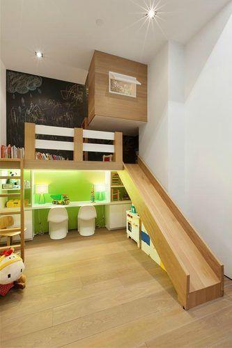 playhouse child friendly interior surfaces | Kid-Friendly $4M Greenwich Village Loft Has Slide ...