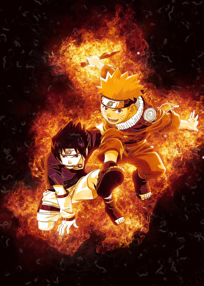 'Naruto' Metal Poster - kirk burt83 | Displate | Displate thumbnail