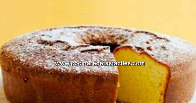 Receta de torta chifon de naranja | Recetas fáciles
