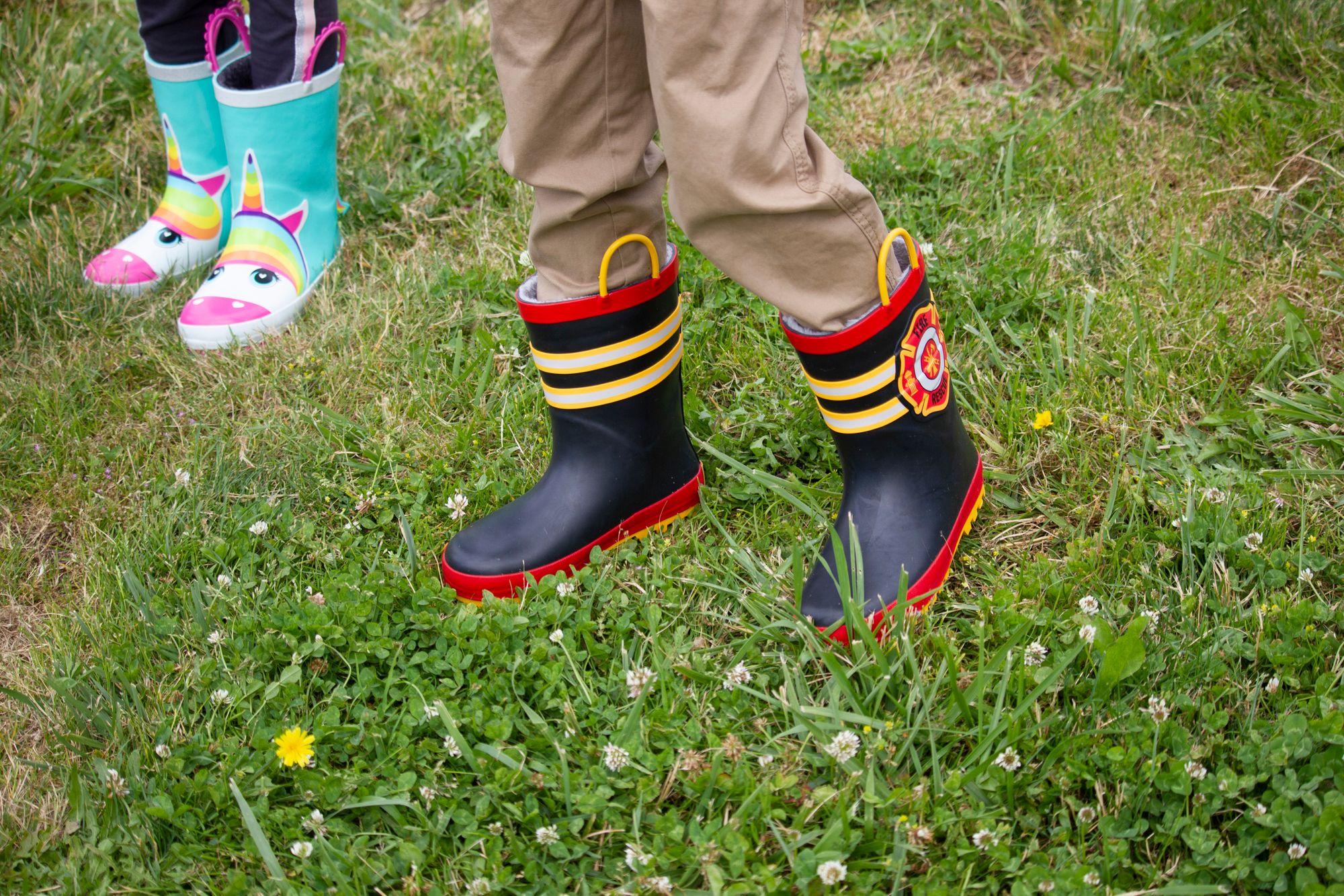 Faux Fur Lined Rubber Rain Boots