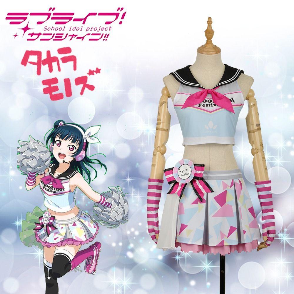 LoveLive!SunShine!! Aqours Tsushima Yoshiko Cheering Squad Cheerleaders Awakening Cosplay Costume  #glovesmadefromsocks