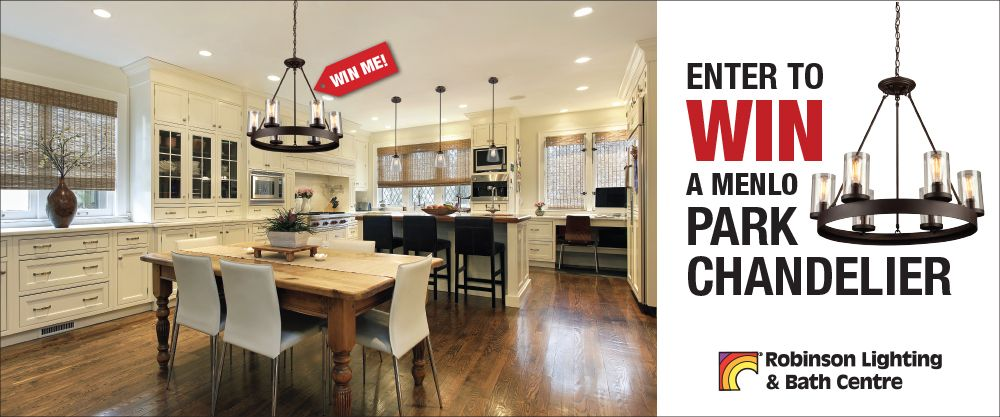 One Lucky Winner Will Receive An Artcraft Menlo Park Chandelier With Clean Spherical Lines And