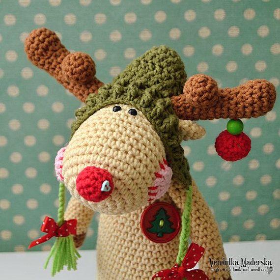 crochet pattern christmas reindeer by vendulkam amigurumi. Black Bedroom Furniture Sets. Home Design Ideas